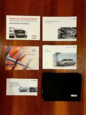Audi A6 Service Books Owners Manual With Case