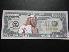 Lebron James $1 million Dollar Note Nouveauté Bill $1,000,000 Joueur de Basket-ball