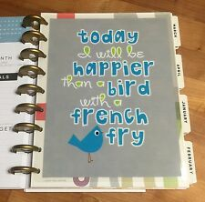 Bird French Fry Two-Sided Dashboard for use with Happy Planner *Create 365*