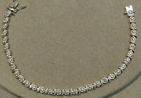 """Vintage Sterling Silver Tennis Bracelet 7.25"""""""
