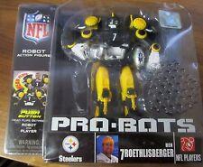 "Pittsburgh Steelers #7 Ben Roethlisberger PRO-BOT NFL Licensed 7"" Robot NIP"