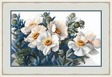 """Counted Cross Stitch Kit Golden Hands - """"Pearl poppies"""""""