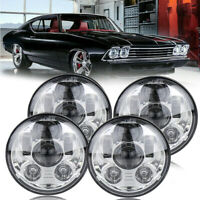 "4x 5 3/4"" 5.75"" Hi/Lo Beam LED Headlights Fit Chevy Impala Corvette Bel Air Ford"