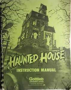 "Gottleib  ""Haunted House"" Pinball Instruction Manual"