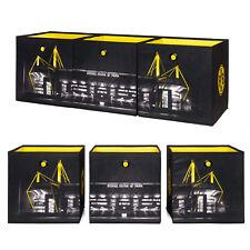 Faltbox Flori BVB 09 Aufbewahrungsbox 3er-Set Borussia Dortmund in schwarz gelb