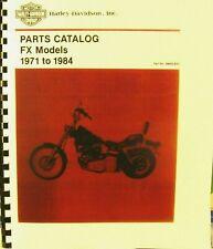 1971-1984   Parts Catalog For  FX   Models    278 PGS     #99455-83C