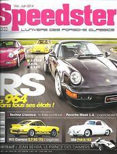 SPEEDSTER N°20 MAI-JUIN 2014  PORSCHE CLASSICS/ 964 RS/ 911 CARRERA/ 356 PRE-A
