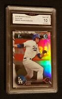 * GEM MINT 10 * GAVIN LUX 2016 BOWMAN CHROME draft ROOKIE #BDC67 REFRACTOR