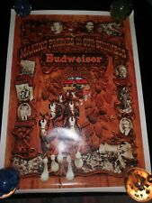 Budweiser Original Advertising Founding Fathers Brewing History Poster 30 x 22
