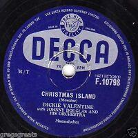CHRISTMAS ISLAND /THE HAND OF FRIENDSHIP 78 DICKIE VAKLENTINE UK DECCA F10798 EX