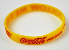 Coca-Cola Coke USA Silikon Armband gelb Freundschaftsband Wristband Well-Being