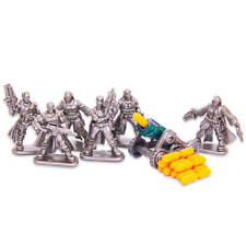 Set of 6 Wasteland Raiders Fantasy Armored Infantry Toy Soldiers 40 mm + gun