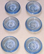 24 Vintage Glowing See Through 1.7cm Blue Bowl Shaped Buttons