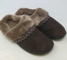 fd6428efe967b Women s ISOTONER Woodlands Faux Fur Microsuede Clog Slippers size US 7.5-8