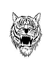 tiger head stencil for Airbrush Tattoo craft Art 522