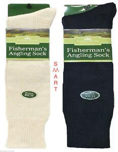 3 Pairs Mens Fisherman's Angling Winter Wool Socks Size 6-11 Motorbike High Knee