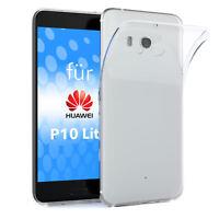 Schutz Hülle für Huawei P10 Lite Case Silikon Handy Soft Cover Transparent Klar