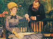 In The Wintergarden 1879 Berlin Art POSTCARD Edouard Manet Magna Edition 1990s