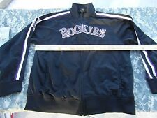 Adult Unisex Vintage Stitches Mlb Colorado Rockies Zip Up Track Jacket 31829
