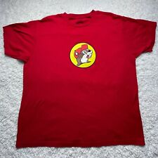 Buc-ee's Shirt Adult Extra Large Red Logo Short Sleeve Bucees Classic D3