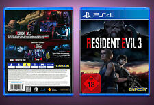 Resident Evil 3 PS4 Custom Cover + Leerhülle | Replacement Case | NO GAME