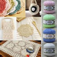 New Soft DIY Wool Cotton Lace Crochet Thread Jewelry Hand Fine Yarn 24Colors