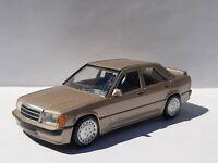 Norev jet car  Mercedes 190 e 2.3  16 marron.metal  Ech1/43 . Neuf en boite.