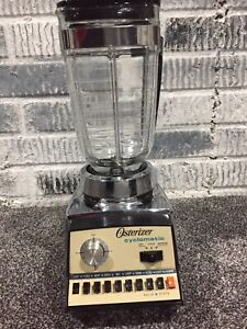 Vintage Oster Osterizer Cyclomatic 10 Speed Bar Blender Model 677 Chrome Working