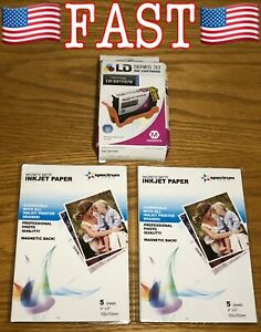 LD 331-7379 6M6FG Magenta Ink Cartridge for Dell Printer with 10 Sheets Magnetic