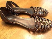 WHITE MOUNTAIN Ballet Flats Womens COPPER BRONZE Beaded Dress Sandals Size 7.5 ~
