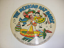 Vintage Childrens Cardboard picture Record-The Mexican Hat Dance