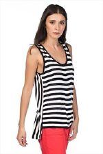 nwt gap womens striped tank sleeveless t-shirt tee blouse top M 100% viscose