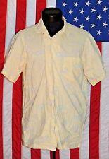 Polo Ralph Lauren Men Hawaiian Horse Animal Button Up Pocket Shirt Yellow L