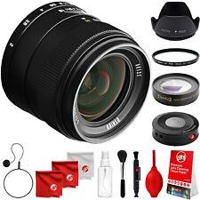 Oshiro 35mm f/2 Wide Angle Lens for Nikon DSLR Cameras & 55mm 10x HD Macro Lens
