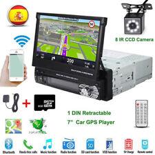 Autoradio 1 DIN 7'' Pantalla Táctil Coche MP5 USB Player GPS Bluetooth + EU Map
