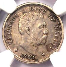 1883 Hawaii Dime (Ten Cents, 10C) - NGC XF Details (EF) - Rare Certified Coin