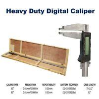 "HD 60"" 80"" Electronic Digital Caliper Resolution 0.01mm/0.0005in Wooden Case"