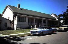 Original 35mm Ektachrome Slide, Street Scene / Old Classic Cars parked