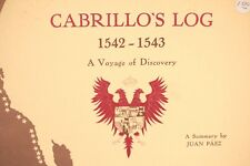 Vtg 1960s Cabrillo's Log Book A Summary Jan Paez Ship Indians Captain 1542-1543