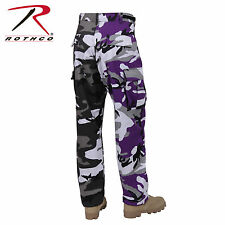 Rothco Two-Tone Camo BDU Pants - Yellow and Orange or Ultra Violet and City