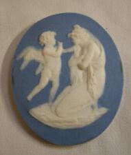 MEDAILLON ancien BISCUIT de SEVRES par Paul MILLET entre 1911 et 1930 femme ANGE