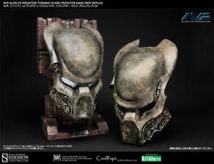 1:1 Coolprops Sideshow Alien VS Predator AVP PYRAMID GUARD Predator Mask Helmet
