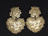 Vintage- Clips Boucles d'oreilles Pendants Jacky de G