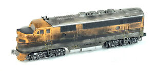 KATO F-SERIES A-UNIT D&RGW DCC FITTED WEATHERED GOOD RUNNER UNBOXED N GAUGE(VF)