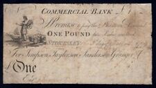 """Great Britain: COMMERCIAL BANK 1799 £1 Stokesley """"VERY RARE"""". Outing 2061b"""
