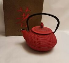 Kyusu Cast Iron Tea Pot, 30 oz., Red