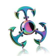 rainbow anchor Hand Spinner Metal Fidget Kids Stress Relieve Finger Toys Gift