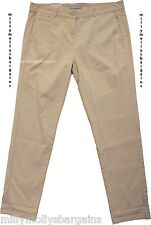 New Womens Marks & Spencer Beige Chino Trousers Size 10 LABEL FAULT