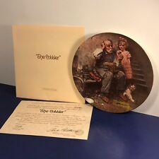 Knowles Collectors Plate Norman Rockwell The Cobbler Heritage Collection Shoe