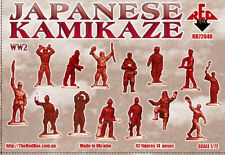 Japanese Kamikaze WW2 WWII Red Box (42) 1/72 Scale Plastic Toy Soldiers #72048